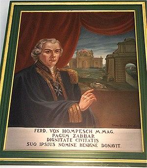 Żabbar Sanctuary Museum - Painting of Grand Master Ferdinand von Hompesch zu Bolheim at the museum