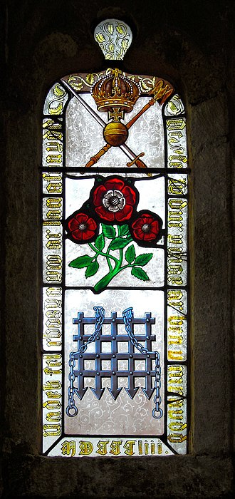 Tudors of Penmynydd - The stained glass window at Penmynydd.