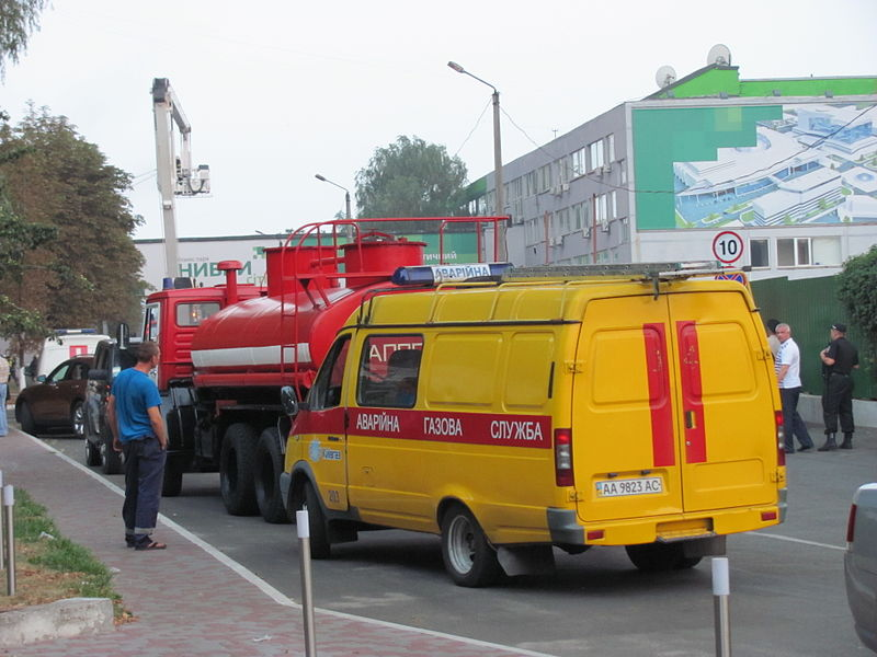 Fire engines in Kiev, Ukraine.JPG