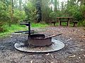 Fire pit and cooking plate provided. Gums campsite, Kinglake National Park - panoramio.jpg
