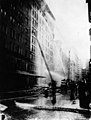 Firefighters spray water on the Asch Building trying to put out the Triangle factory fire blaze, March 25, 1911 (5279335917).jpg