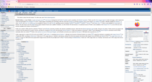 Firefox 82 on Windows 10 displaying Wikipedia, with Firefox Alpenglow theme