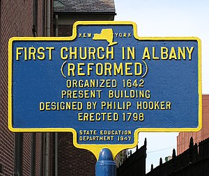 First Church in Albany (Reformed) - First Church in Albany historical marker