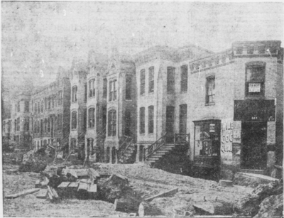 """""""Houses in First Street Northeast Which Are to Make Way for the First Street Tunnel"""", a 1904 photograph uploaded at the DC Neighborhoods event"""
