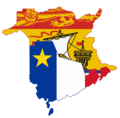 Flag map of New Brunswick and Acadia (Proposal).png