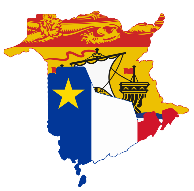 File:Flag Map Of New Brunswick And Acadia (Proposal).png