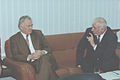 Flickr - Ion Chibzii - Conversation of the former prime minister of Moldova Ion Ciubuc (at the left) with the Moldavian journalist (the end of 90th).jpg