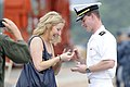 Flickr - Official U.S. Navy Imagery - AZ native-Sailor presents his girlfriend with an engagement ring after returning from patrol.jpg