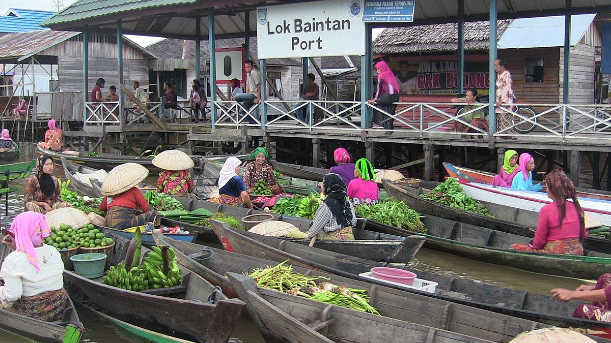Pasar Terapung Lok Baintan Wikipedia Bahasa Indonesia