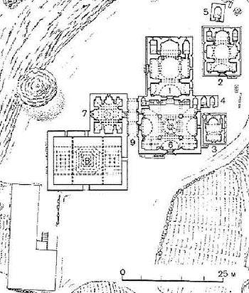 Qoşavəng məbəd kompleksinin planı