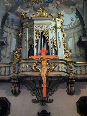 Pietro Anderlini - Illusionistic perspective behind the organ by Pietro Anderlini, San Giuseppe (Florence)