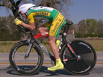 Doping in sport - Controversial athlete Floyd Landis, shown here at the 2006 Tour of California, triggered a public scandal when caught doping to help his cycling.