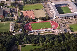 Ostseestadion - Aerial view of the Ostseestadion.