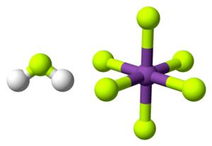 Fluoroantimonic acid - Image: Fluoroantimonic acid 3D balls
