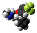 Fluoxetine molecule spacefill from xtal.png