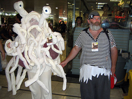Flying Spaghetti Monster and Pirate Dragon Con 2007