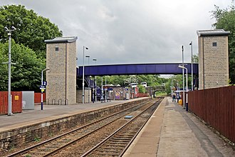Marple railway station - The station in 2015