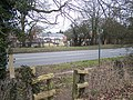 Footpath crosses A20 Ashford Road - geograph.org.uk - 1188903.jpg