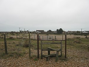 Marshlink line - An obsolete stile over the former 1937 realignment of the line from Lydd to New Romney, closed since 1967
