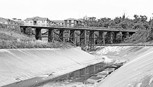 White Oak Bayou - This former Missouri–Kansas–Texas Railroad bridge over the White Oak Bayou in Houston is now part of the Heights Bike Trail
