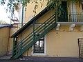 Former barrack. Listed ID 5711. Inner yard (SE). Exterior wood stairs. - n. 11. Vármegyeház sq., Gyöngyös, Hungary.JPG