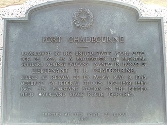 Fort Chadbourne - Image: Fort Chadbourne Texas Historical Marker