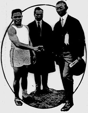 Athletics at the 1923 Far Eastern Championship Games - Image: Fortunato Catalon and Prince Chichibu