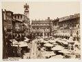 Fotografi över Piazza delle Erbe, Verona - Hallwylska museet - 107347.tif
