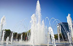 Splash pad - Image: Fountain in Krasnodar