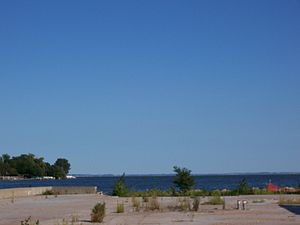 Fox River (Wisconsin) - The Upper Fox River emptying into Lake Winnebago at Oshkosh
