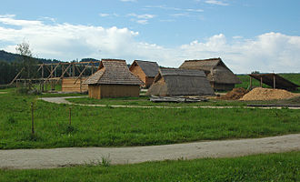 Middle Ages - Reconstruction of an early medieval peasant village in Bavaria