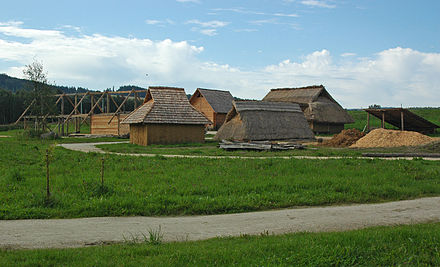 Reconstruction of an early medieval peasant village in Bavaria Fruhmittelalterliches Dorf.jpg