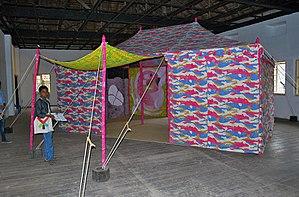 Francesco Clemente - Paper tent at the Kochi-Muziris Biennale in Kochi, in Kerala, India, 2014