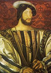 Franz I. von Frankreich (Jean Clouet zugeschrieben, um 1525, Paris, Louvre) (Quelle: Wikimedia)