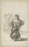 Francisco José de Goya y Lucientes - Two Majas Embracing (recto); Maja Parading before Three others (verso) - Google Art Project.jpg