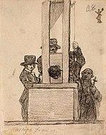 הוצאה להורג בגיליוטינה, בציור מאת פרנסיסקו גויה