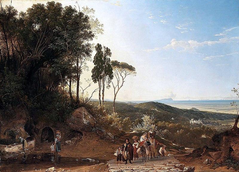 File:Franz Ludwig Catel (1778 - 1856), Aussicht von Ariccia gegen das Meer.jpg