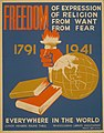 Freedom of expression, of religion, from want, from fear everywhere in the world LCCN98517353.jpg