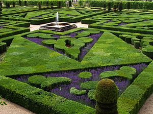 French formal garden of the 'Chateau de Villan...