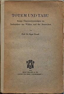 <i>Totem and Taboo</i> 1913 book by Sigmund Freud