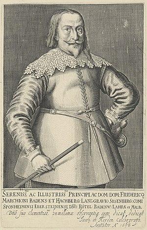 Frederick V, Margrave of Baden-Durlach -  Frederick V of Baden-Durlach - engraving by Jacob van der Heyden, 1636