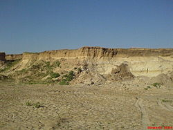 A sand mine in Frolovsky District
