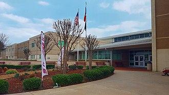 Wylie High School (Wylie, Texas) - Image: Front of Wylie High School, TX, 2018