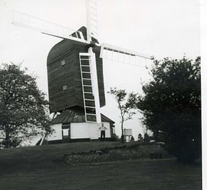 Fryerning Mill - Image: Fryerning Windmill, Essex, 1965