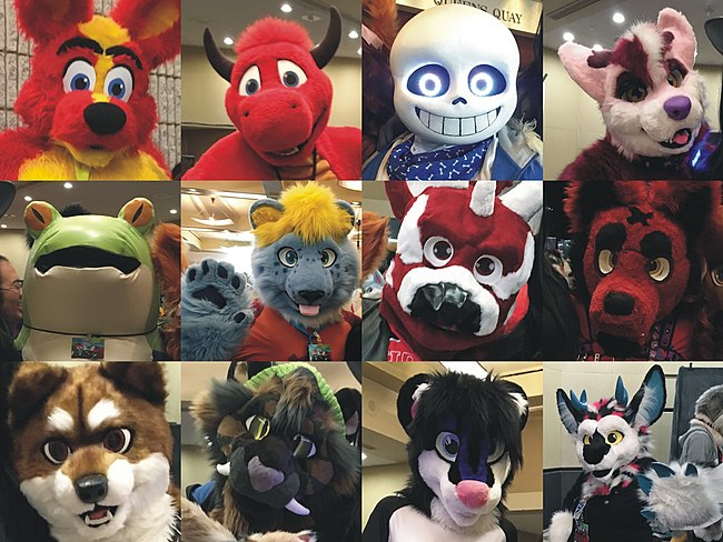"A selection of ""fursuiters"". Image: Nicholas Moreau."