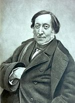 Gioachino Rossini, März 1856. Fotografie von Nadar, Metropolitan Museum of Art (Quelle: Wikimedia)