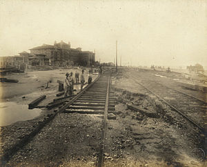 Hotel Galvez - Image: Galveston Electric Company tracks