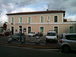 Gare de Juan-les-Pins railway station in Antibes, France