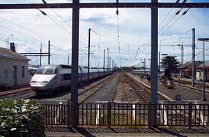Loire-Atlantique - TGV and Interloire trains in Le Croisic
