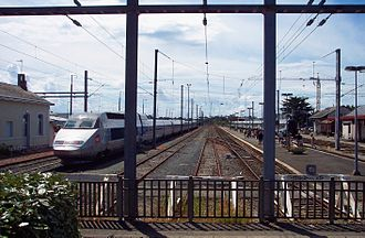Loire-Atlantique - TGV and Interloire trains in Le Croisic